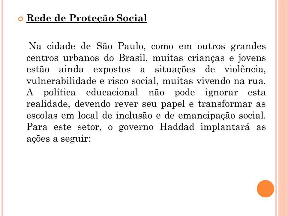 Rede de Proteção Social Na cidade de São Paulo, como em outros grandes centros urbanos do Brasil, muitas crianças e jovens estão ainda expostos a situ
