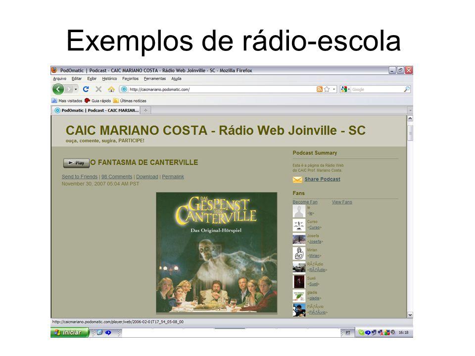 Exemplos de rádio-escola