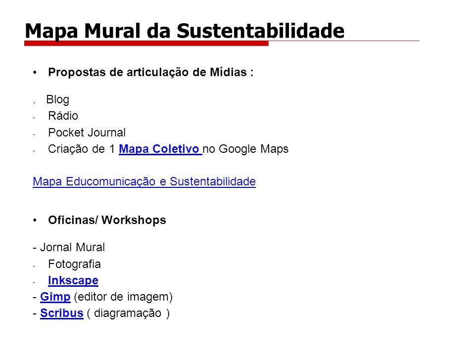 Propostas de articulação de Mídias :. Blog - Rádio - Pocket Journal - Criação de 1 Mapa Coletivo no Google MapsMapa Coletivo Mapa Educomunicação e Sus