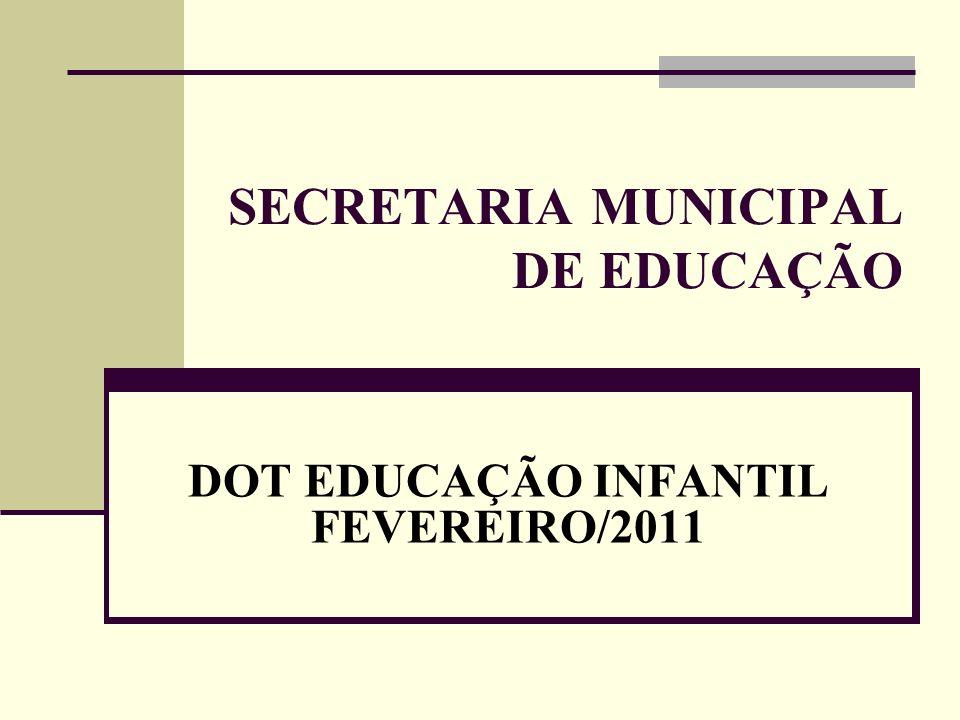 SECRETARIA MUNICIPAL DE EDUCAÇÃO DOT EDUCAÇÃO INFANTIL FEVEREIRO/2011