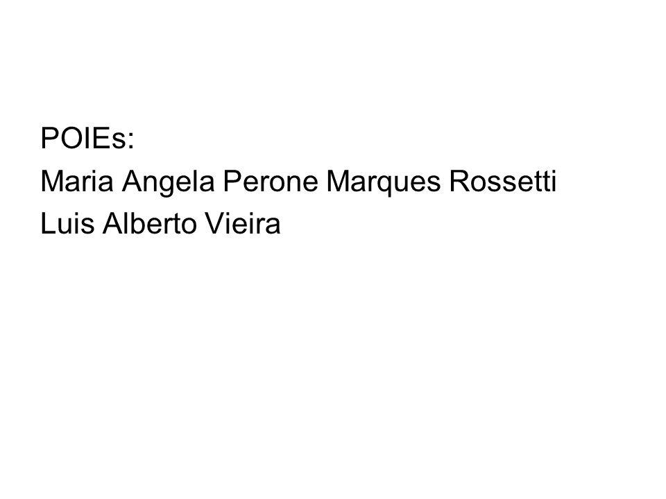 POIEs: Maria Angela Perone Marques Rossetti Luis Alberto Vieira