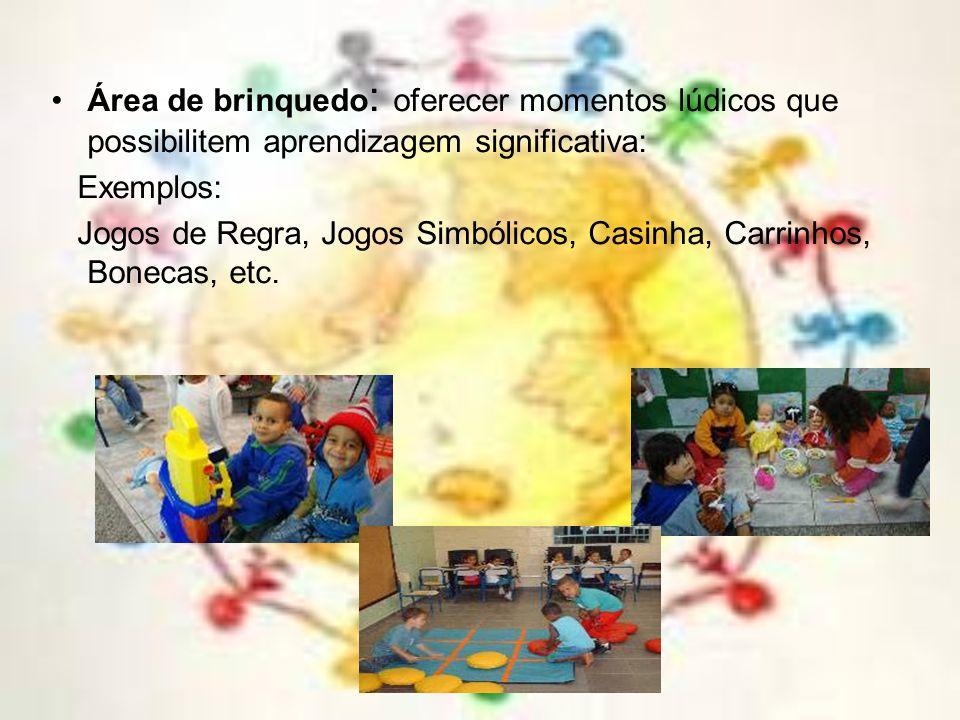 Parque livre: estimar o uso de brincadeiras já aprendidas pelo grupo de crianças. Acompanhar a brincadeira livre intervindo quando necessário. Parque