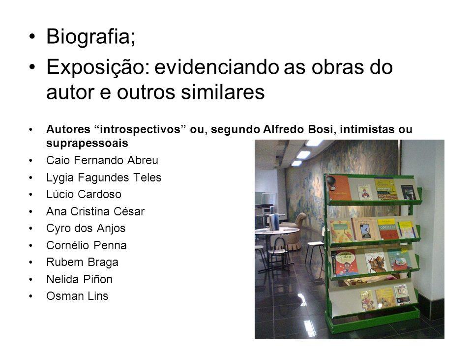 Biografia; Exposição: evidenciando as obras do autor e outros similares Autores introspectivos ou, segundo Alfredo Bosi, intimistas ou suprapessoais C