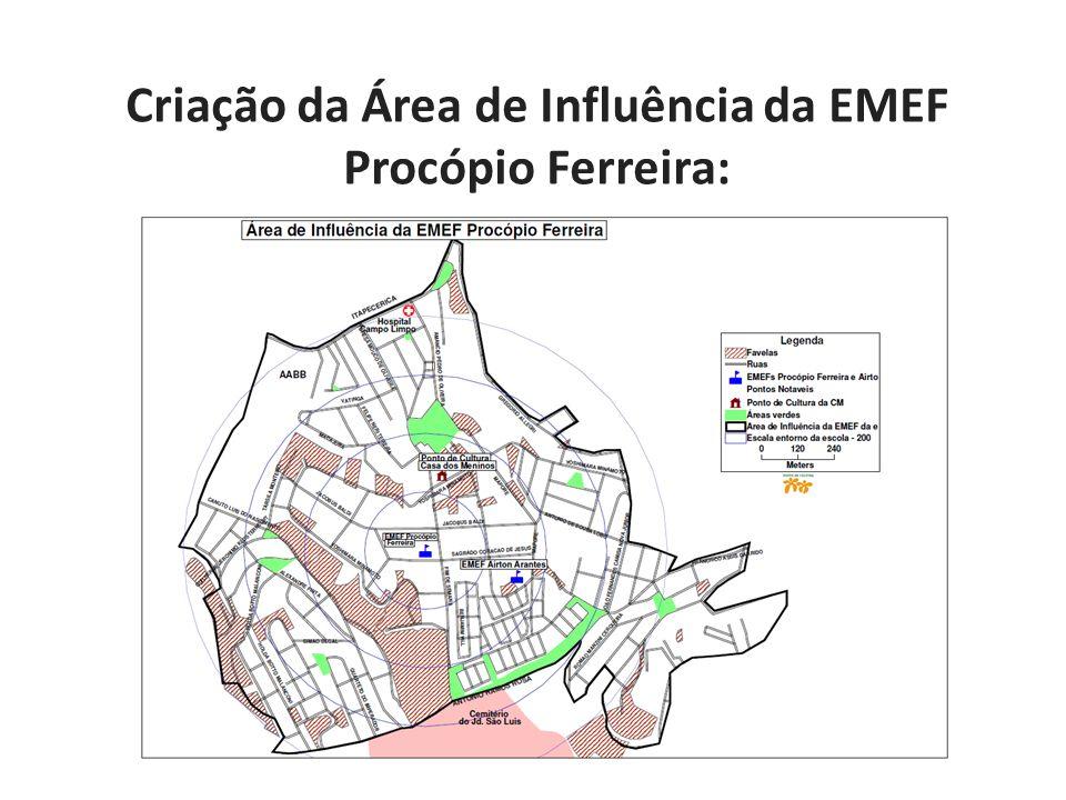 Criação da Área de Influência da EMEF Procópio Ferreira: