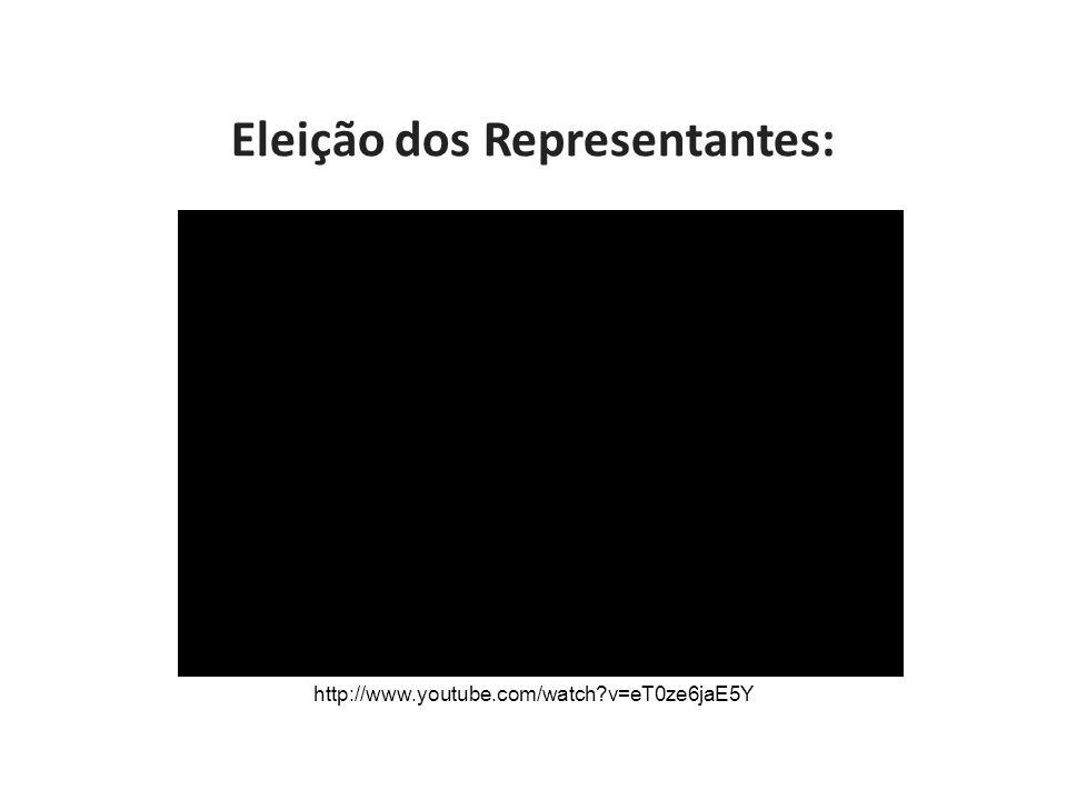 Eleição dos Representantes: http://www.youtube.com/watch v=eT0ze6jaE5Y