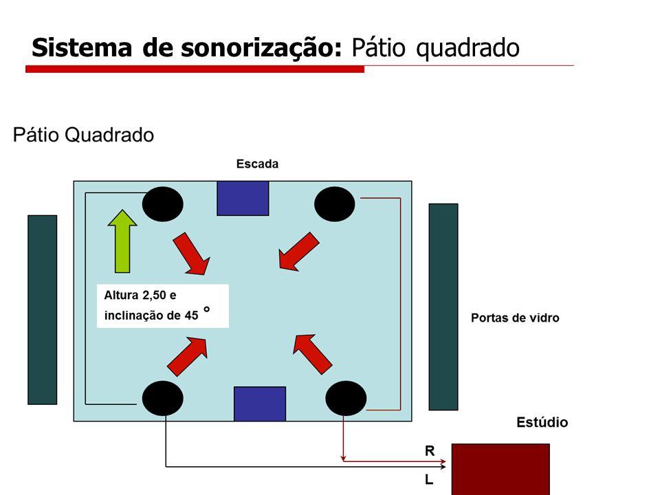 Sistema de sonorização: Pátio quadrado