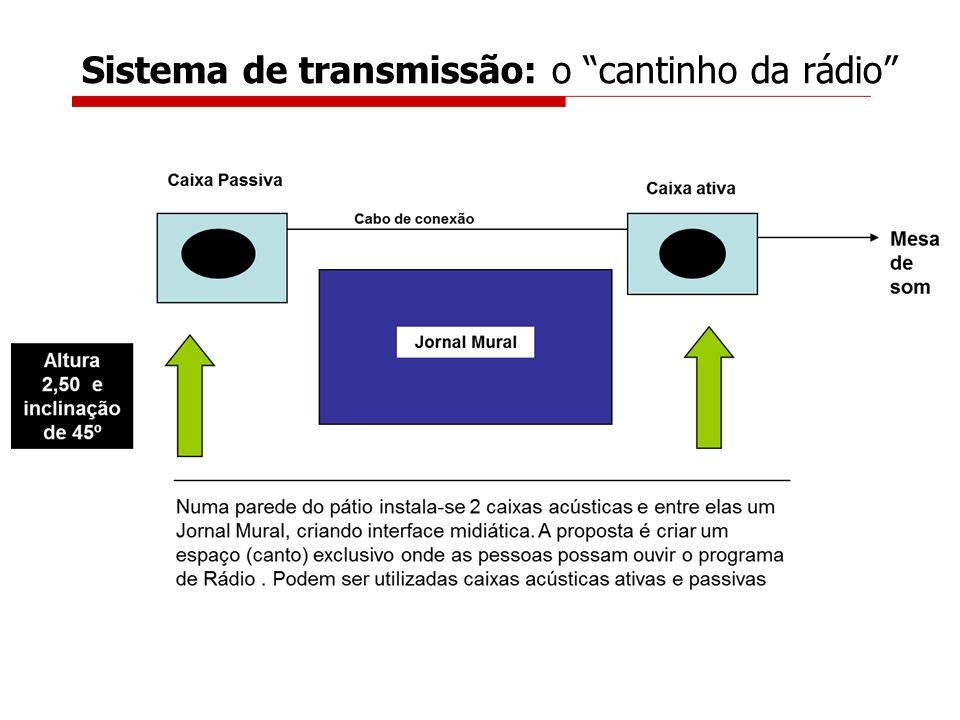 Sistema de sonorização: Entradas e saídas RCA Canon P10