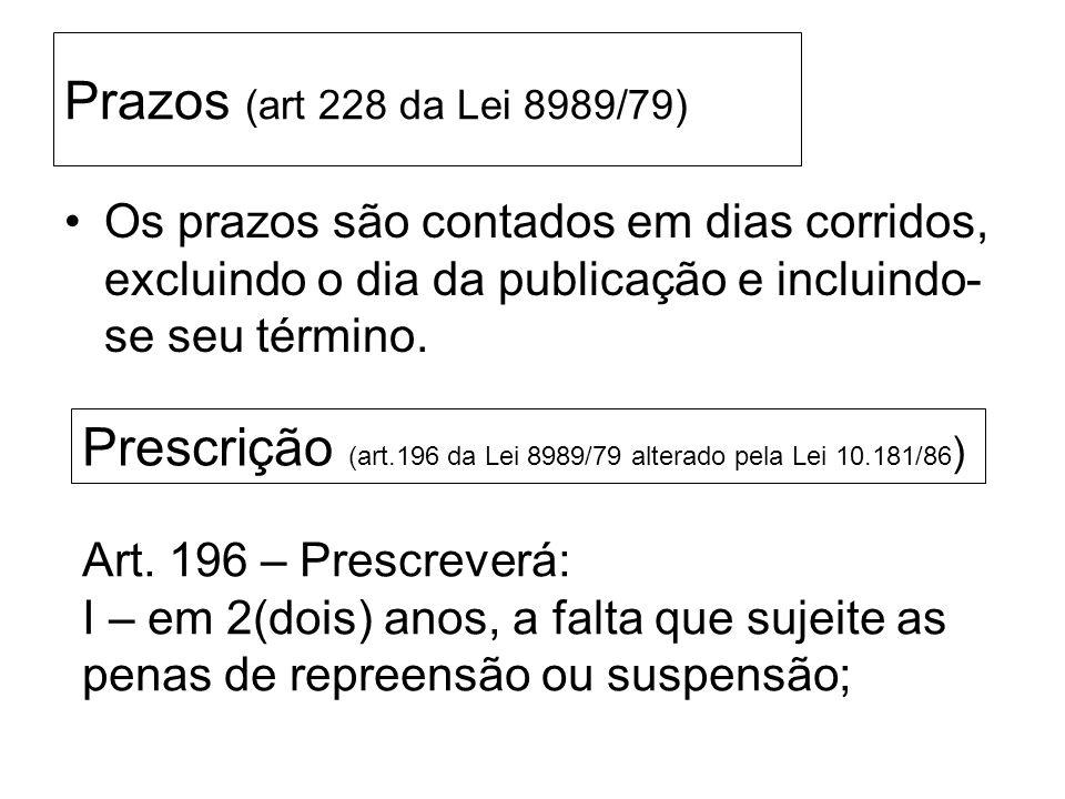 LEMBRANDO....... RECURSO – será solicitada à Chefia imediatamente superior Prazo = 60 (sessenta) dias a contar da publicação em DOC Art.177 da Lei 898