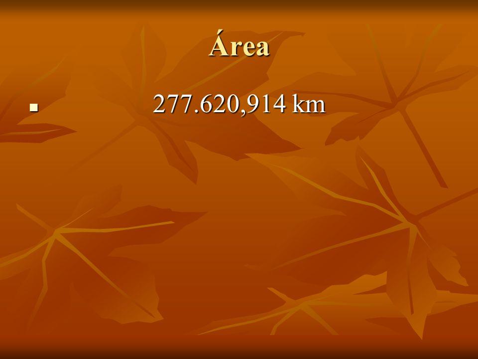 Área 277.620,914 km 277.620,914 km