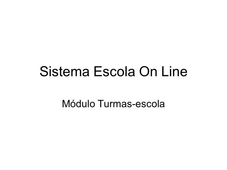 Sistema Escola On Line Módulo Turmas-escola