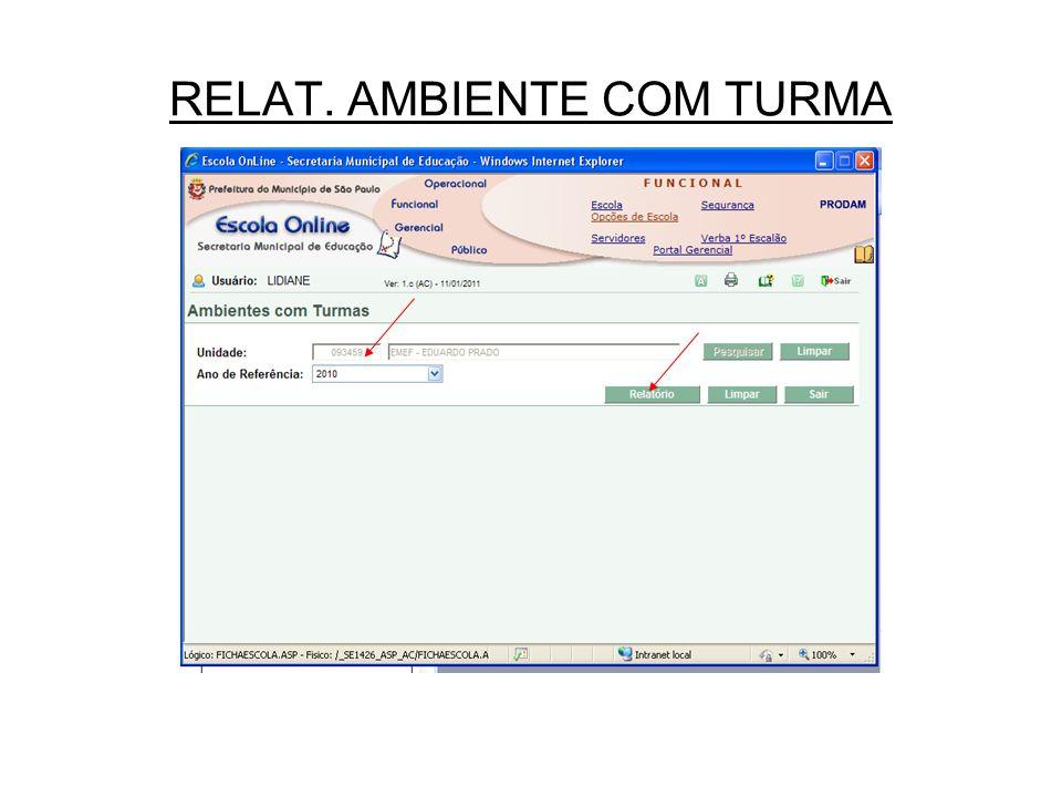 RELAT. AMBIENTE COM TURMA