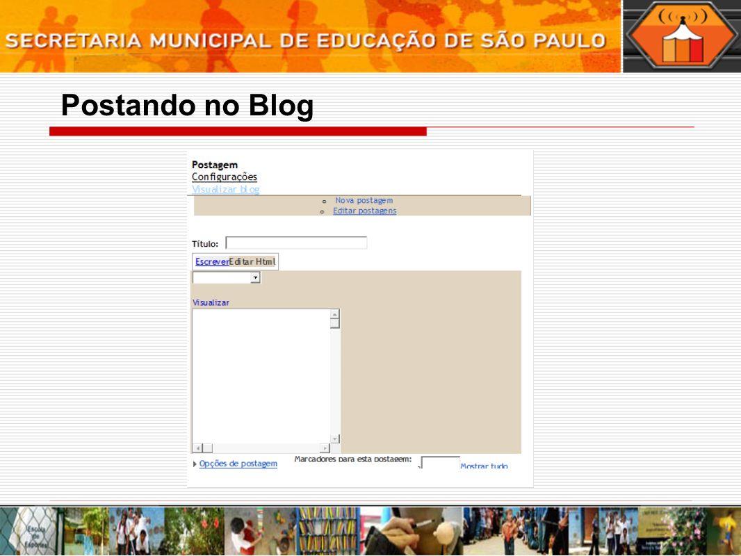 Postando no Blog