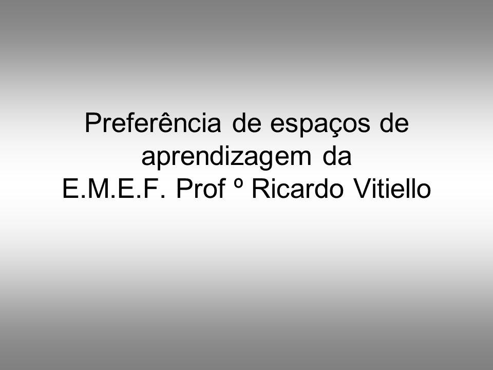 Preferência de espaços de aprendizagem da E.M.E.F. Prof º Ricardo Vitiello