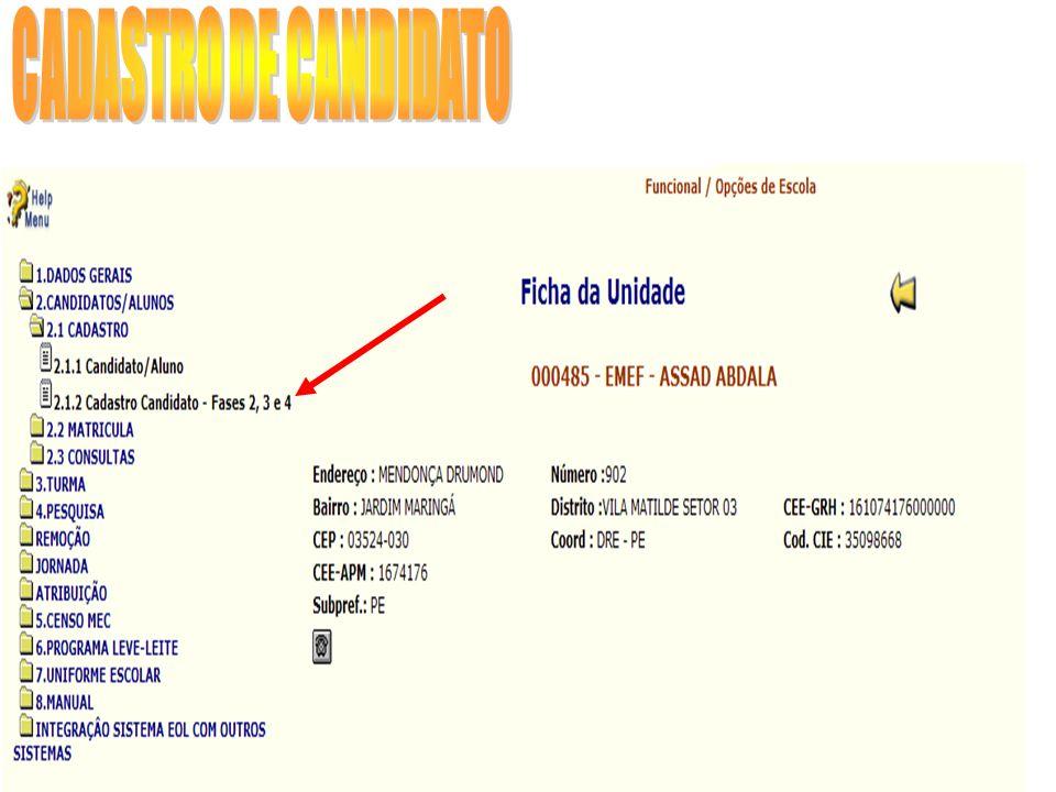 Quando informado o endereço indicativo, nesta tela de contatos, deverão ser preenchidos os telefones de contato para este Tipo de Endereço.