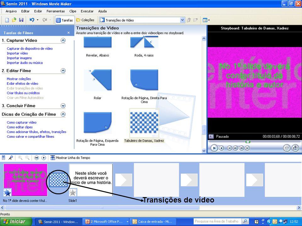 Transições de vídeo