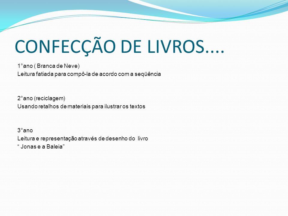 CONFECÇÃO DE LIVROS....