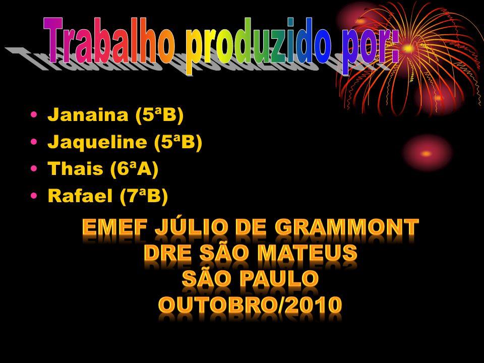 Janaina (5ªB) Jaqueline (5ªB) Thais (6ªA) Rafael (7ªB)