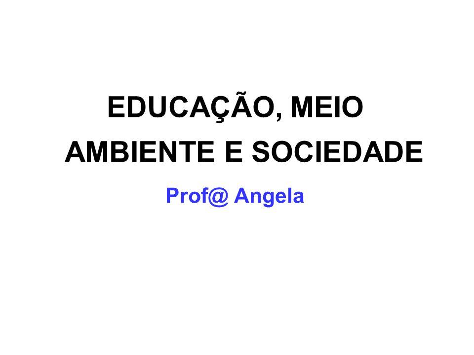 EDUCAÇÃO, MEIO AMBIENTE E SOCIEDADE Prof@ Angela