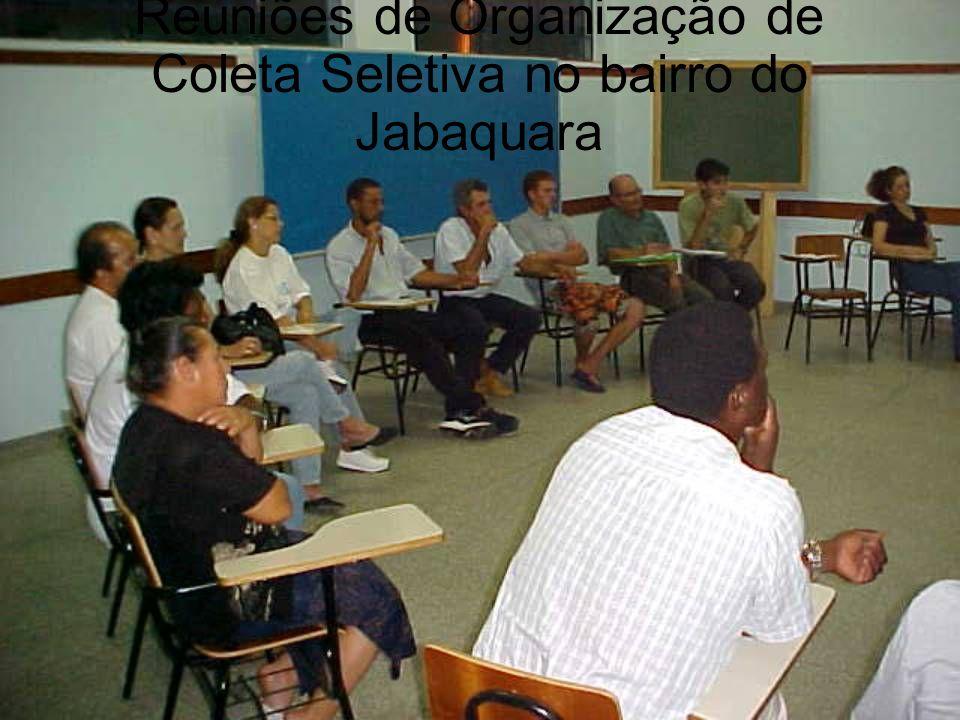 Reuniões de Organização de Coleta Seletiva no bairro do Jabaquara
