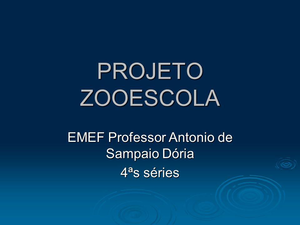 PROJETO ZOOESCOLA EMEF Professor Antonio de Sampaio Dória 4ªs séries