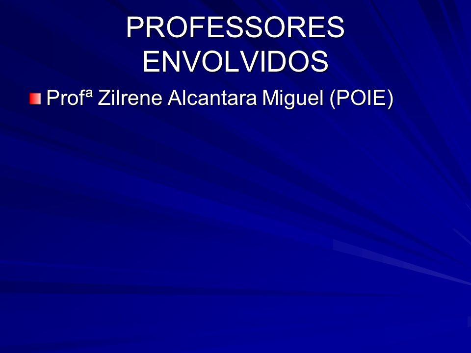 PROFESSORES ENVOLVIDOS Profª Zilrene Alcantara Miguel (POIE)