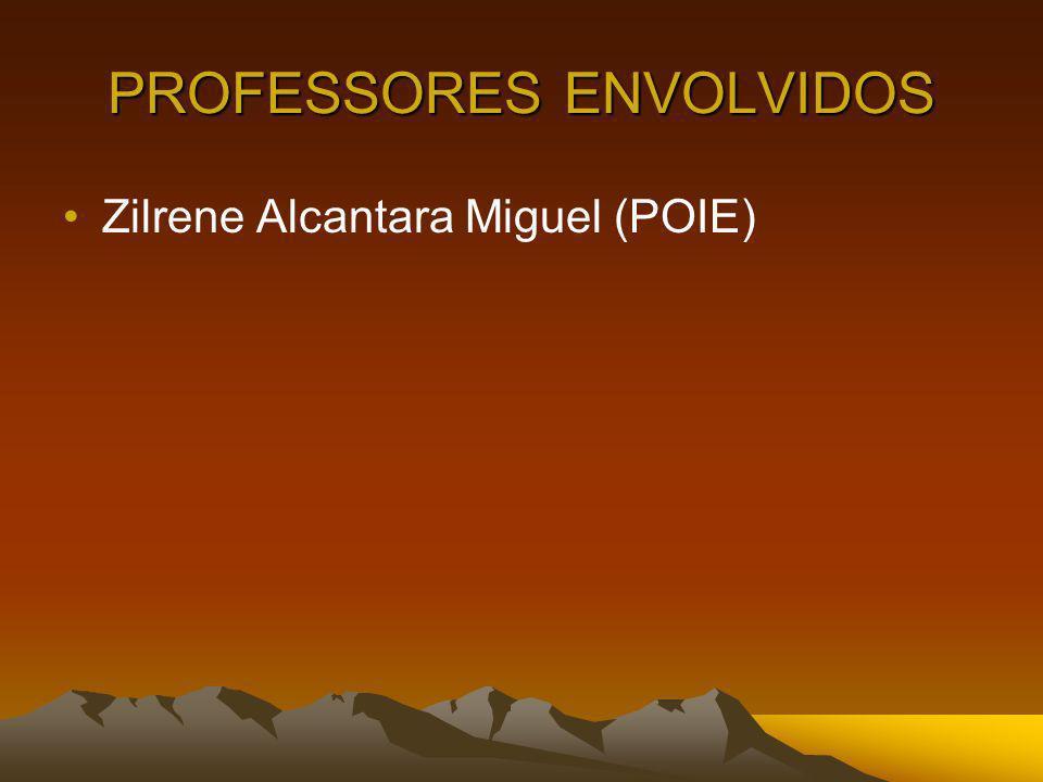 PROFESSORES ENVOLVIDOS Zilrene Alcantara Miguel (POIE)