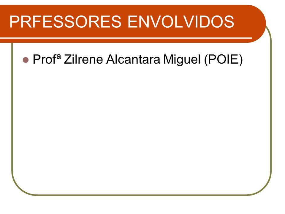 PRFESSORES ENVOLVIDOS Profª Zilrene Alcantara Miguel (POIE)