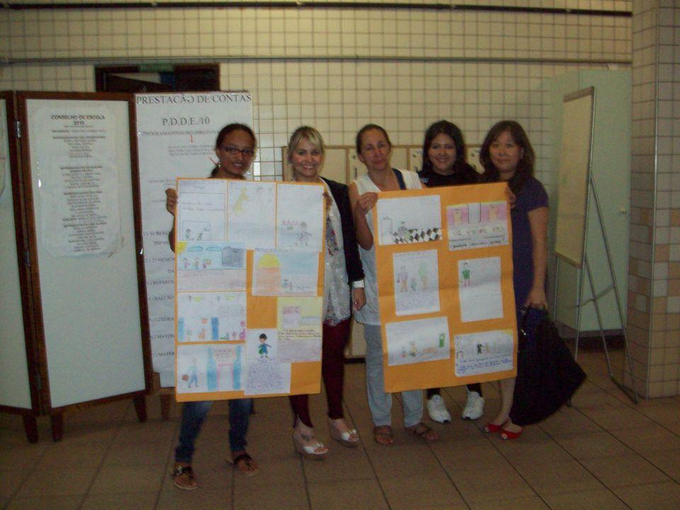 Confecção da Colcha de Retalhos, pelos alunos e alunas do EJA.
