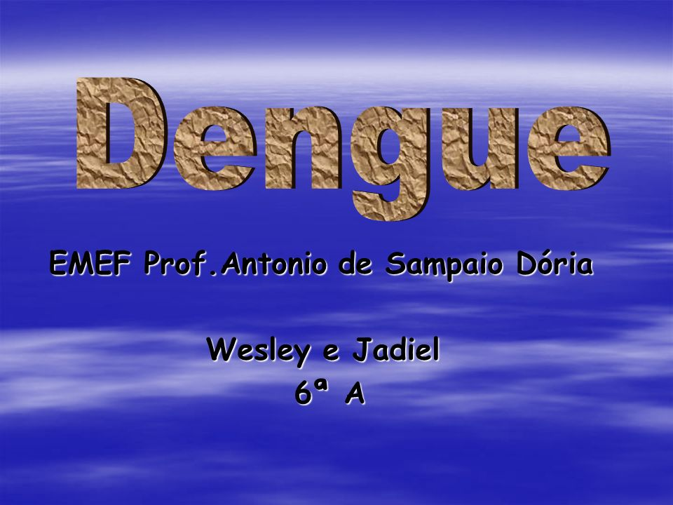 EMEF Prof.Antonio de Sampaio Dória EMEF Prof.Antonio de Sampaio Dória Wesley e Jadiel 6ª A 6ª A