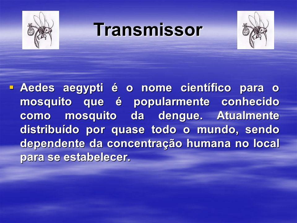 Transmissor Aedes aegypti é o nome científico para o mosquito que é popularmente conhecido como mosquito da dengue.