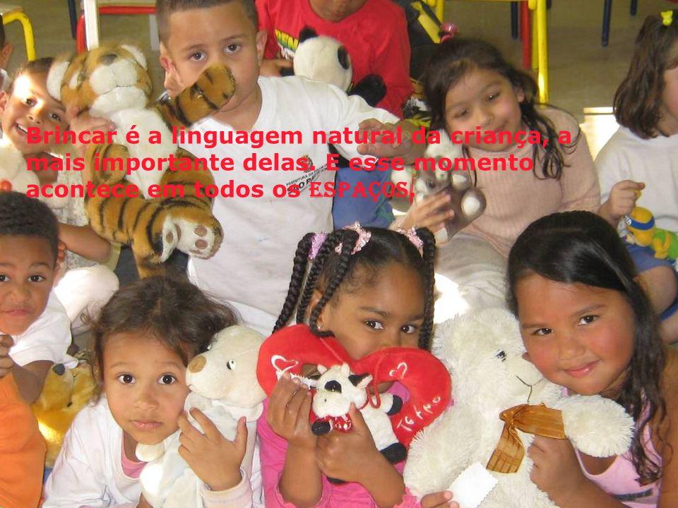 Brincar é a linguagem natural da criança, a mais importante delas.