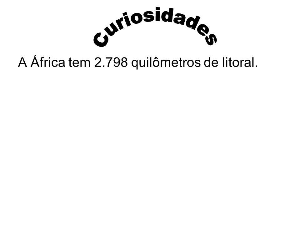 A África tem 2.798 quilômetros de litoral.