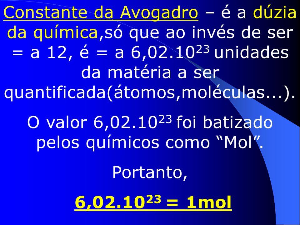 Atenção, esse n° não pode ser esquecido 6.10²³
