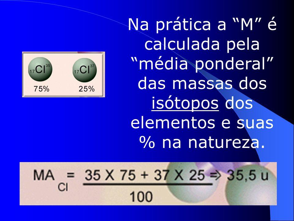 Mas a maioria dos elemento possui vários isótopos.