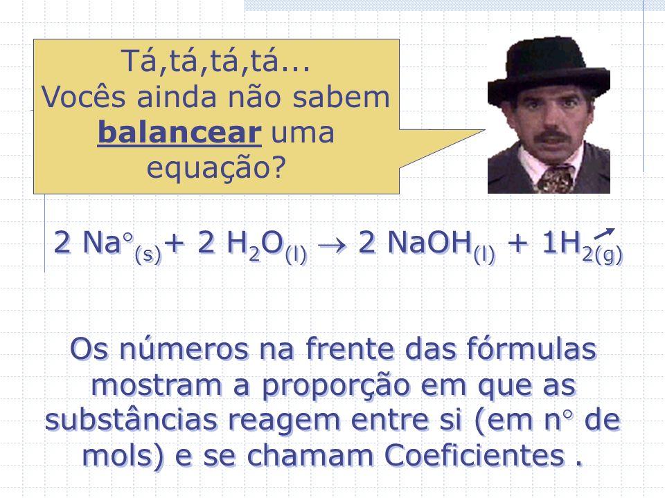 O bicarbonato de sódio (NaHCO 3 ) Extintor de pó químico NaHCO 3 + H 2 SO 4 + Na 2 SO 4 Bolos Antiácidos NaHCO 3 + HCl + Na 2 SO 4 O bicarbonato de só