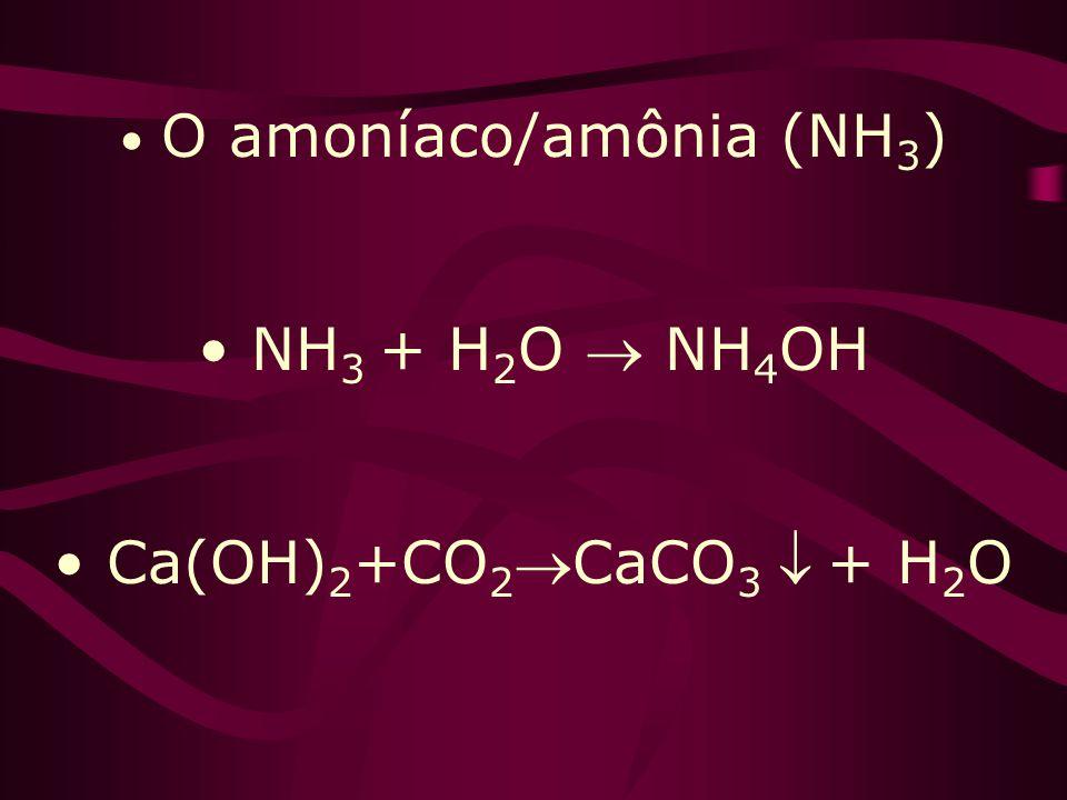 Ca(OH) 2 – Pintura, doces, cal extinta, assopro NH 4 OH – Por decomp. = amoníaco(NH 3 ) (única base que se ioniza em H 2 O) NaOH – Soda cáustica Mg(OH