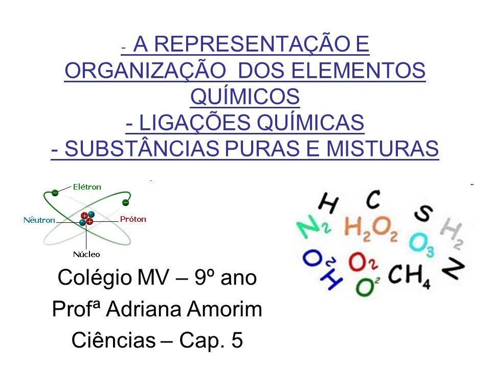 LEMBRANDO: -Toda a matéria é formada por várias substâncias diferentes.
