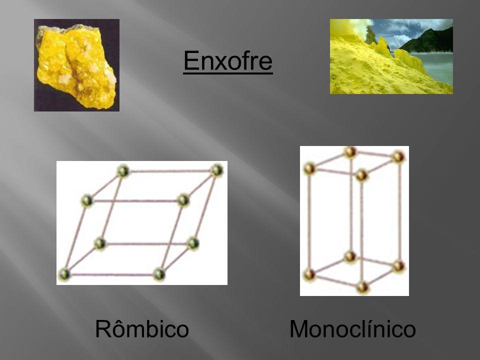 Estados alotrópicos das subst. Simples (C,O,S,P) Carbono Grafite Diamante Fulereno Obs : Alguns autores consideram o carvão.