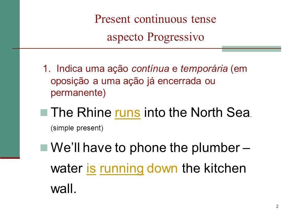3 Present continuous tense aspecto Progressivo 2.