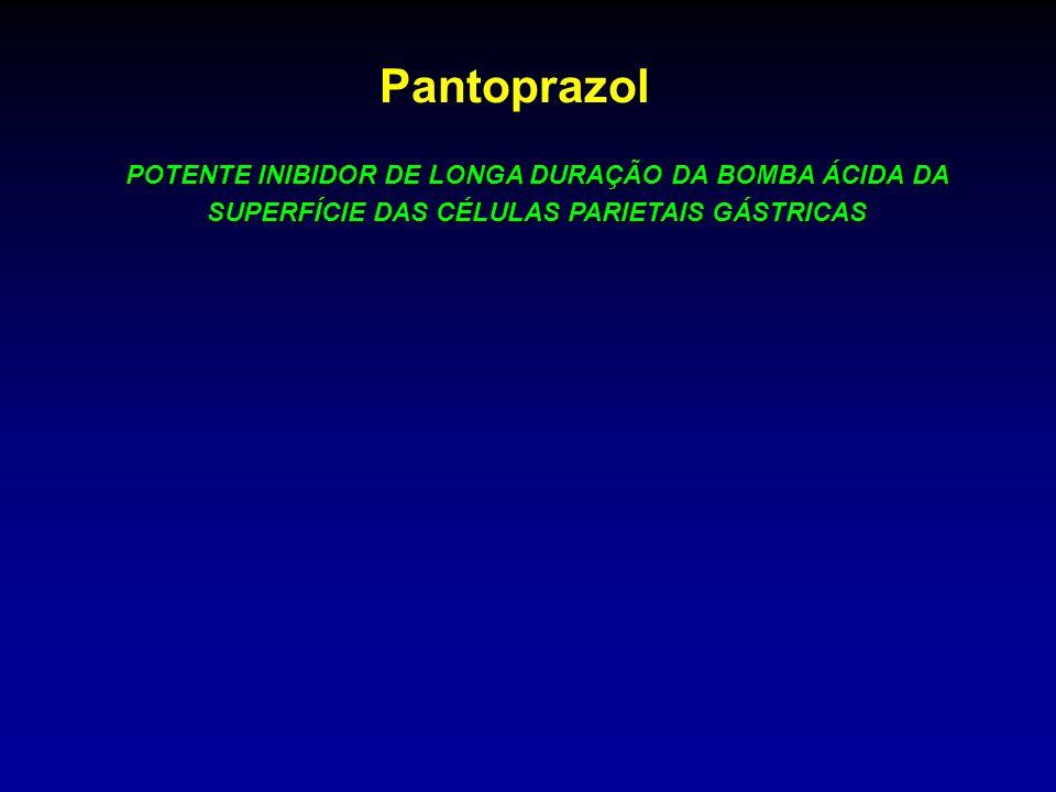 Pantoprazol POTENTE INIBIDOR DE LONGA DURAÇÃO DA BOMBA ÁCIDA DA SUPERFÍCIE DAS CÉLULAS PARIETAIS GÁSTRICAS