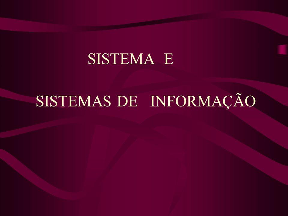 Sistema pode ser definido como um complexo de elementos em interação.