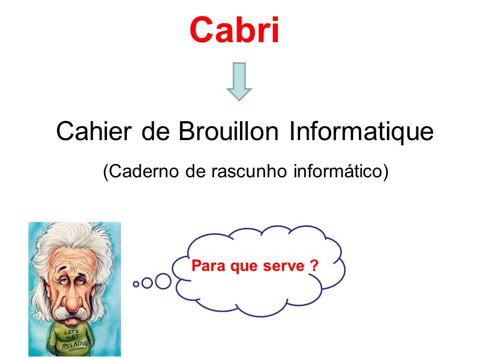 Cabri Cahier de Brouillon Informatique (Caderno de rascunho informático) Para que serve ?