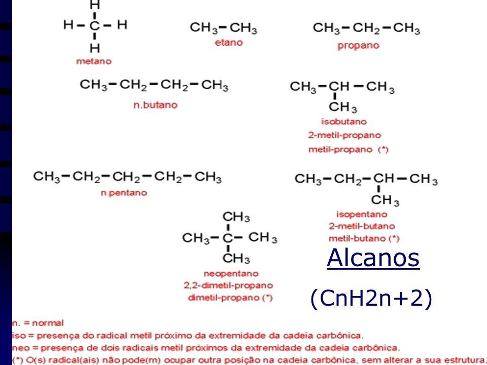 Hidrocarbonetos (Só Ce H) Quanto MM +inflamável; Hidrocarb.