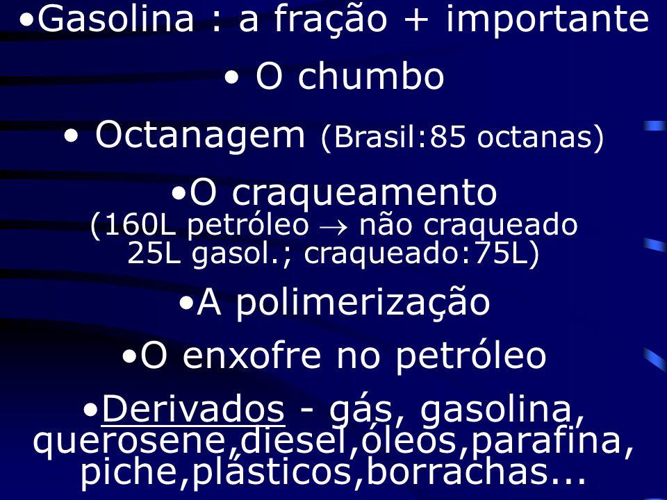 Petróleo reprocessado Plásticos Tecidos Borrachas Perfumes Tintas Explosivos Adubos Inseticidas CorantesDetergentes RemédiosColas