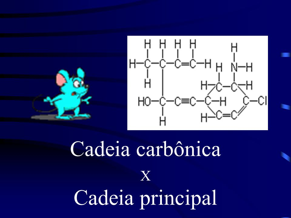 Cadeia carbônica X Cadeia principal