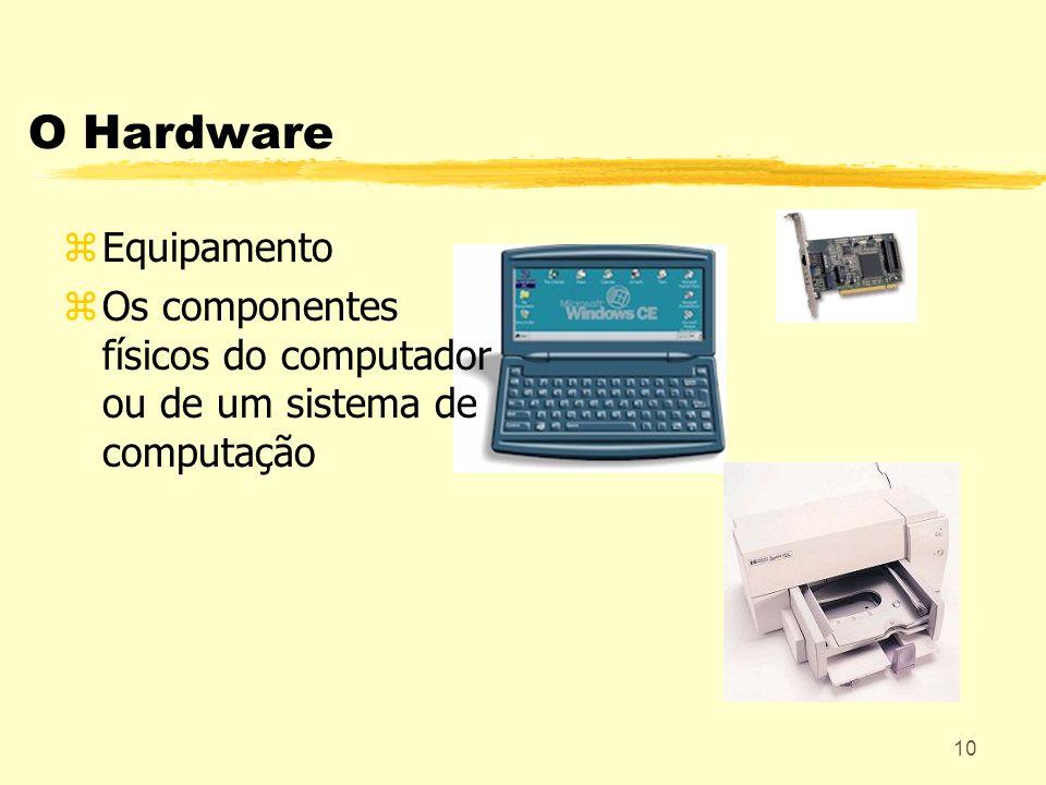 10 O Hardware zEquipamento zOs componentes físicos do computador ou de um sistema de computação