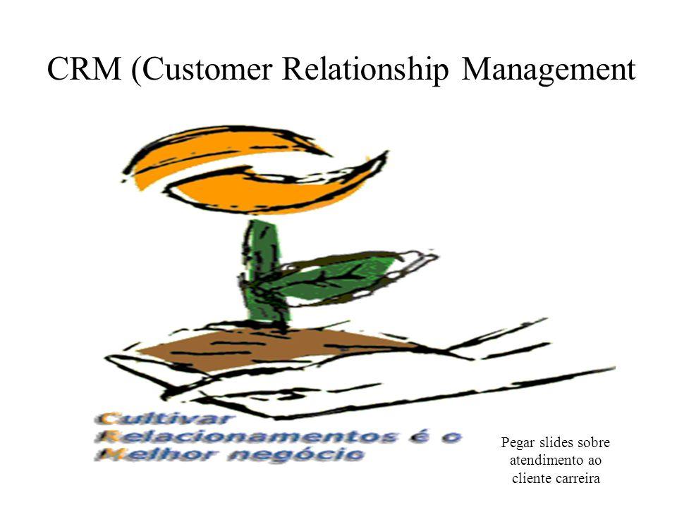 Pegar slides sobre atendimento ao cliente carreira CRM (Customer Relationship Management