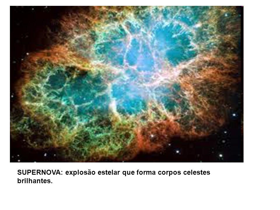 SUPERNOVA: explosão estelar que forma corpos celestes brilhantes.