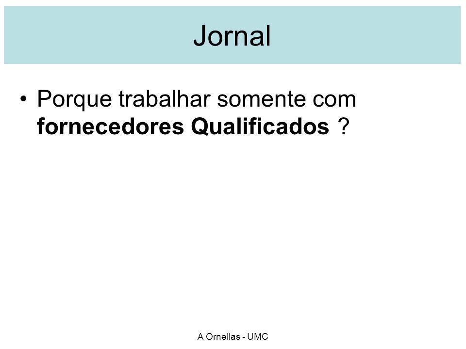 Jornal Porque trabalhar somente com fornecedores Qualificados ? A Ornellas - UMC