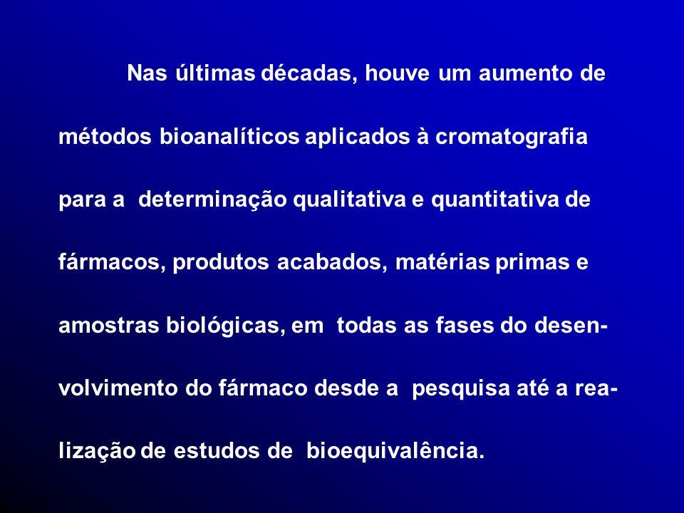 Importante que a análise de amostra bioló- gica de um voluntário esteja compreendida em uma única corrida analítica com a finalidadede minimizar efeitos da variabilidade do inter-ensaio (Dighe e Adams, 1991).